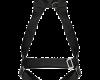 Cinto paraquedista simples